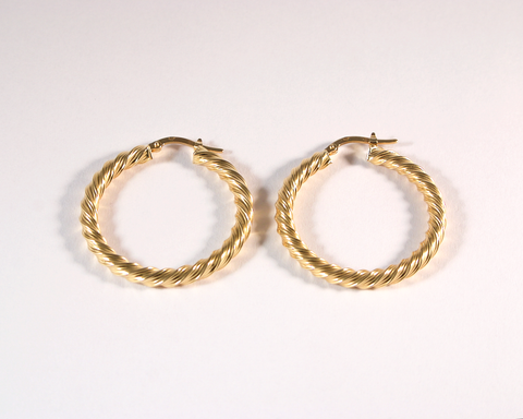 GM477bis-2 ICYMI Créoles torsadées en or jaune - Gold hoops earrings