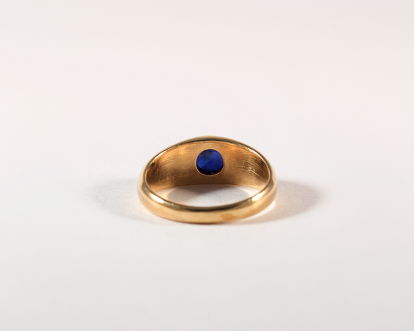GM481-3 ICYMI Bague jonc or jaune 14k saphir cabochon - 14k gold and sapphire cabochon ring