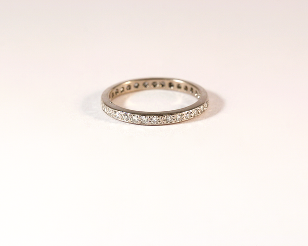 GM507-1 ICYMI Alliance américaine or blanc et diamants - Gold and diamond eternity wedding band ring