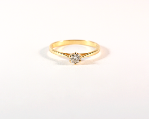 GM524-1 ICYMI Solitaire or jaune et diamant - Gold and diamond solitaire
