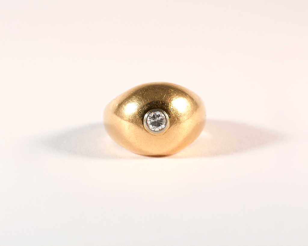 GM529 ICYMI Bague boule or jaune et diamant - Gold and diamond round boob ring