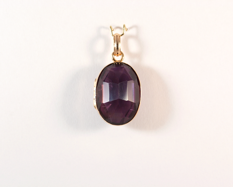 GM534 ICYMI Pendentif or rose 14k et améthyste - 14k rose gold and amethyst pendant