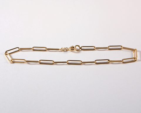 GM543 ICYMI Bracelet maillons allongés Dinh Van or jaune - Gold long links vintage bracelet
