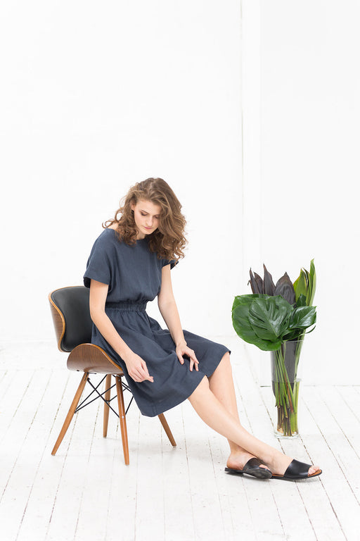 The Francine linen dress (grey)