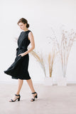 The Adele linen dress (black)
