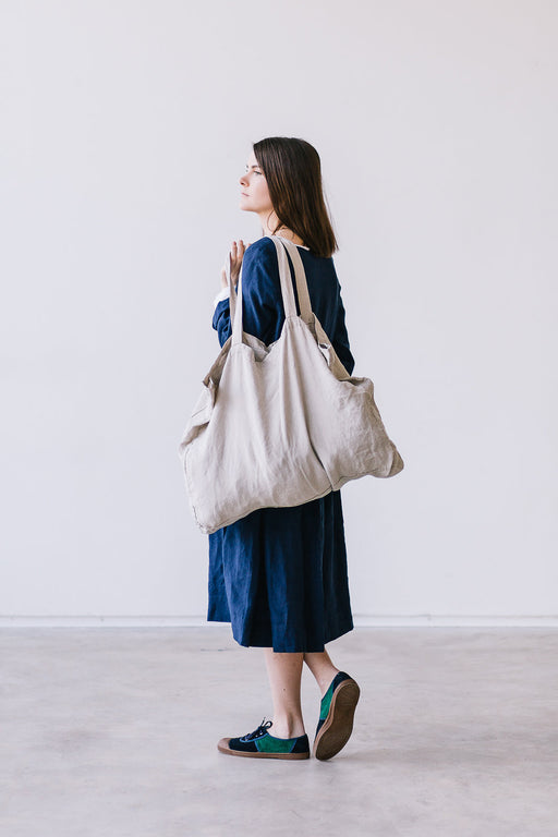 NATURAL Matilda Linen Tote Bag