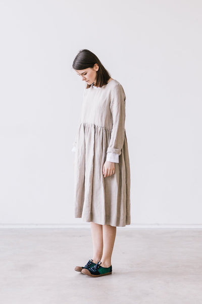 The Bethany linen romantic smock dress (natural)