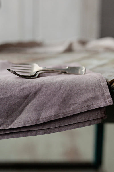The Phoebe linen napkins (lavender) - set of 4
