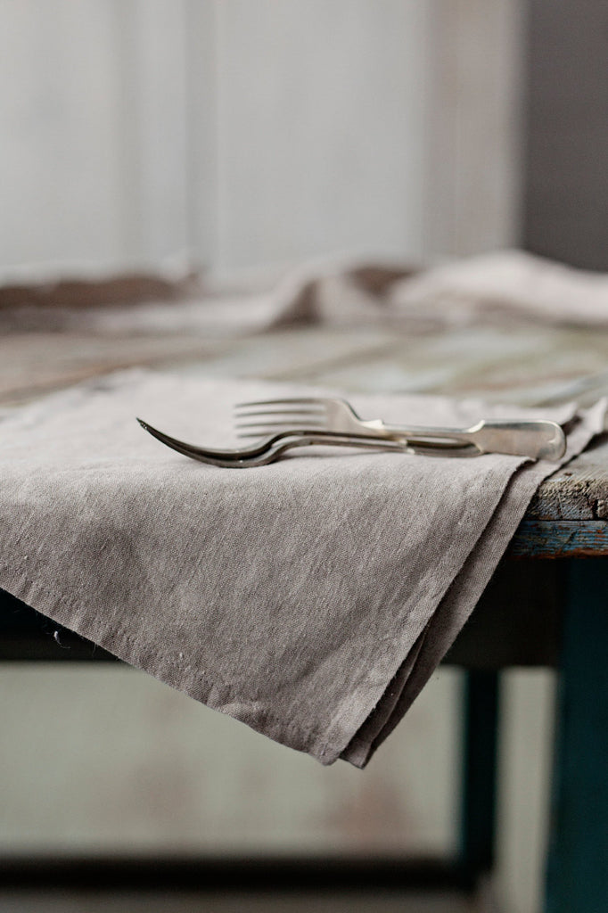 The Phoebe linen napkins (grey) - set of 4