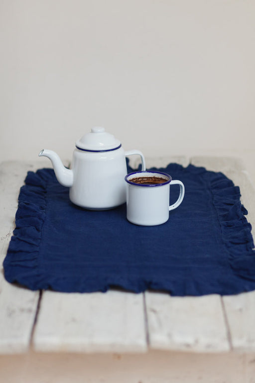 The Wilma linen placemat (navy blue) - set of 4