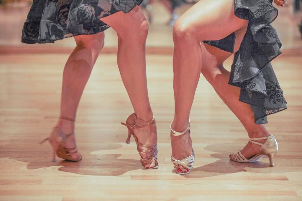 Ladies wearing high quality dancing shoes