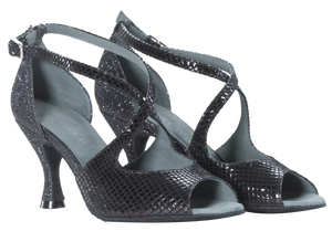 Franca Black Social Dance Shoes - Anita Flavina