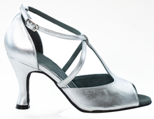 Load image into Gallery viewer, Anais Silver Social Dance Shoes - Anita Flavina