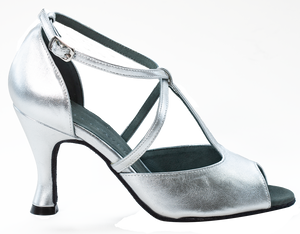 Anais - Ladies Social Dance Shoes - Silver Leather ~ PRE-ORDER NOW FOR DELIVERY WEEK 24TH FEBRUARY
