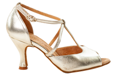 Load image into Gallery viewer, Anais Gold Social Dance Shoes - Anita Flavina