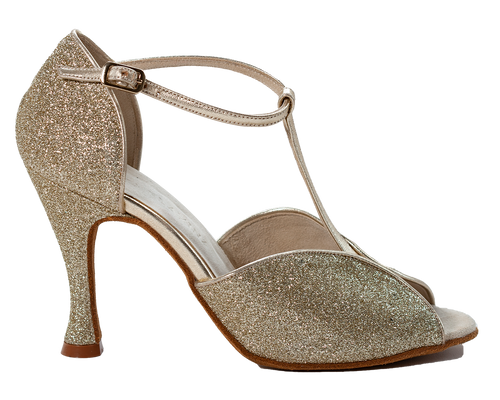 Megan Gold Ladies Social Dance Shoes - Anita Flavina