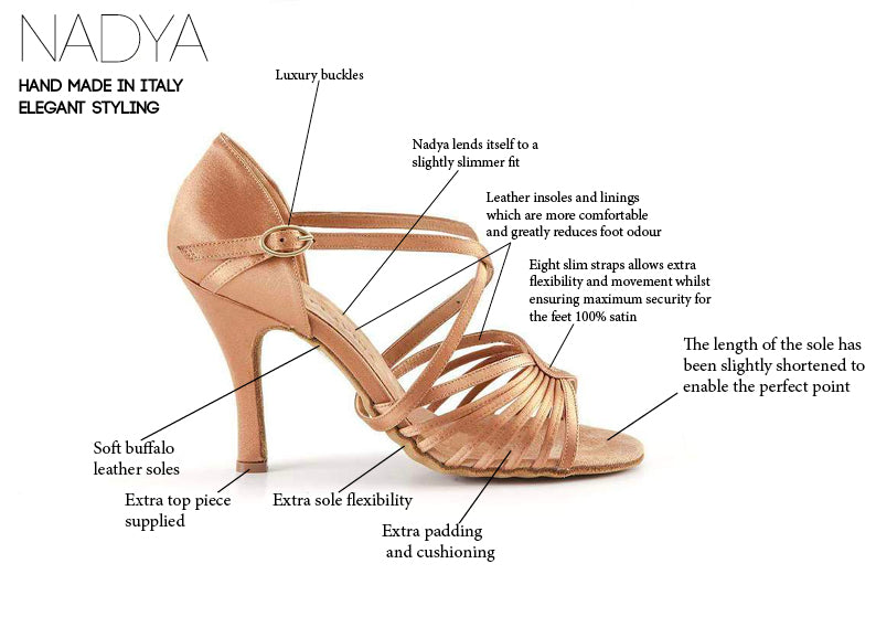 Nadya Ladies Latin Dance Shoes - Anita Flavina