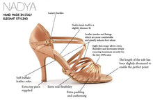 Load image into Gallery viewer, Nadya - Ladies Latin Dance Shoes - Dark Nude Satin