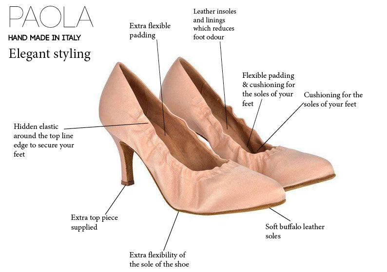 Paola Ladies Ballroom Dance Shoes - Anita Flavina