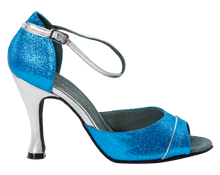 Load image into Gallery viewer, Shine Blue Ladies Dance Shoes - Anita Flavina
