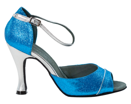 Shine Blue Ladies Dance Shoes - Anita Flavina