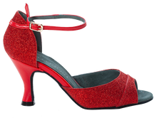 Load image into Gallery viewer, Shine Red Social Dance Shoes - Anita Flavina