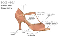 Load image into Gallery viewer, Esther Ladies Latin Dance Shoes - Anita Flavina