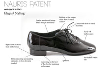 Load image into Gallery viewer, Nauris Patent Men's Ballroom Dance Shoes - Anita Flavina