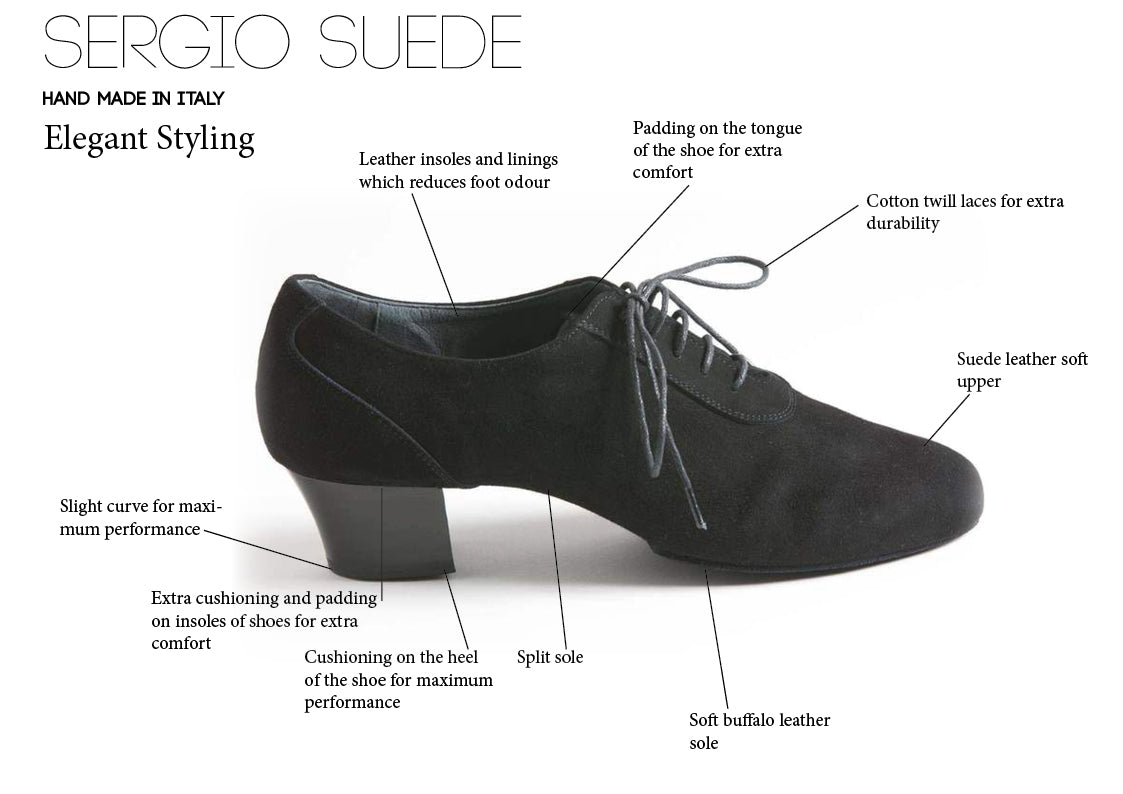 Sergio Suede Men's Latin Dance Shoes - Anita Flavina