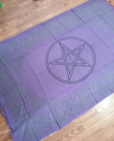 PENTACLE ALTAR CLOTH 44X72