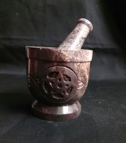 PENTACLE KNOT MORTAR AND PESTLE
