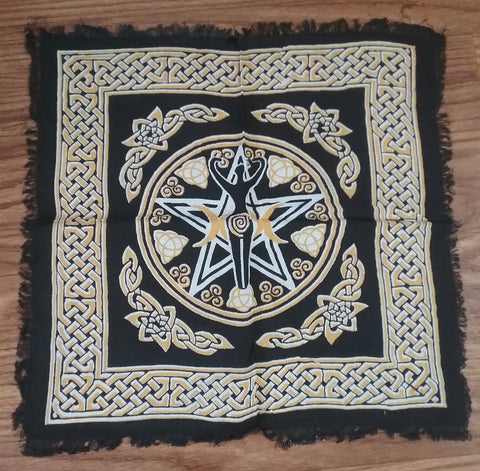 PENTACLE GODDESS ALTAR CLOTH