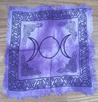 TRIPLE MOON ALTAR CLOTH (PURPLE)