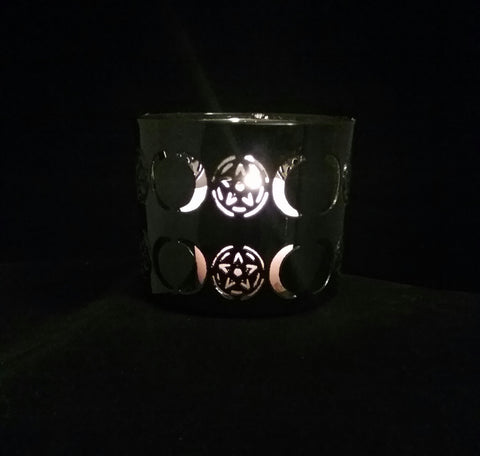 TRIPLE MOON VOTIVE CANDLE HOLDER