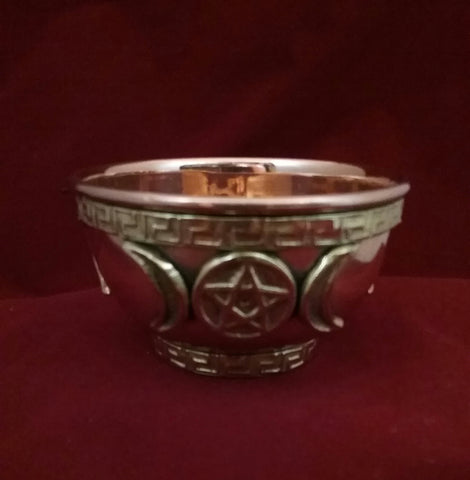 COPPER OFFERING BOWL (TRIPLE MOON PENTACLE)