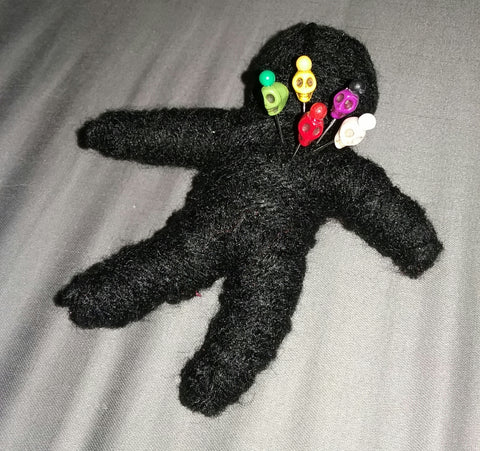 VOODOO/POPPET DOLL WITH SKULL PINS