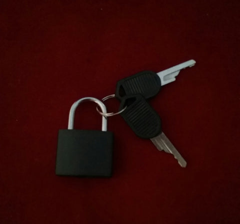 BLACK LOCK WITH KEY