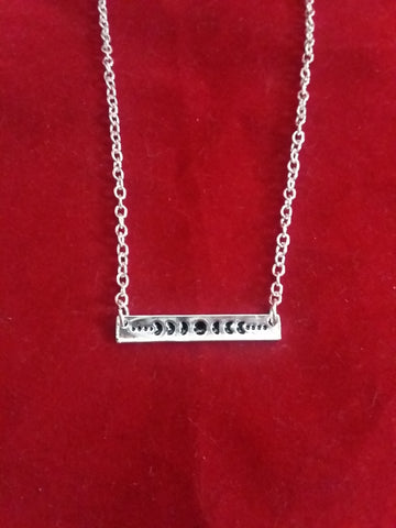 MOON PHASE PLATE NECKLACE