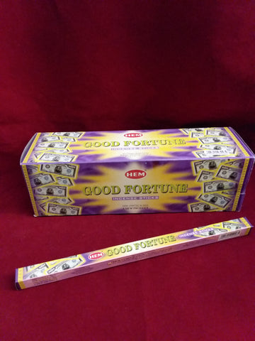 GOOD FORTUNE INCENSE  8-ct