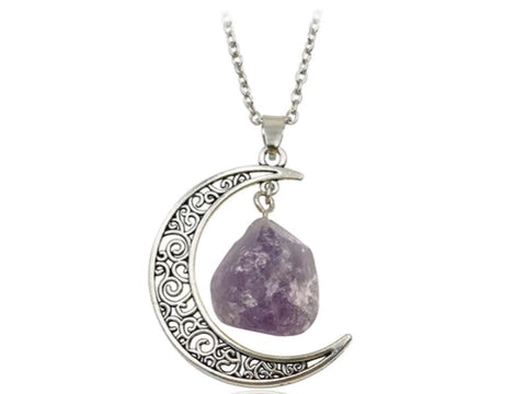 AMETHYST MOON NECKLACE