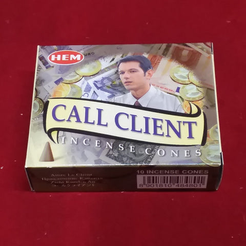 CALL CLIENTS INCENSE CONES