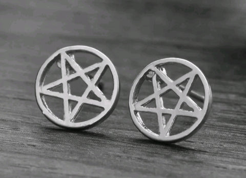PENTACLE STUD EARRINGS