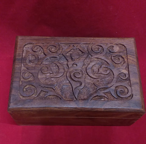 TRIPLE MOON GODDESS WOODEN BOX 4X6