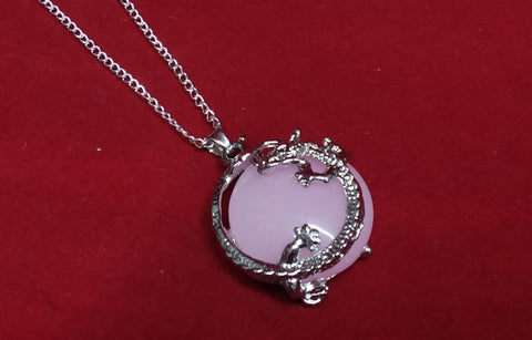 PINK DRAGON  NECKLACE