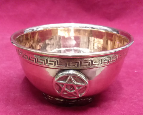 COPPER OFFERING BOWL (PENTACLE)