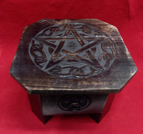 PENTACLE ALTAR TABLE W/DRAWER