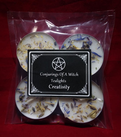 CREATIVITY TEALIGHT SPELL CANDLES