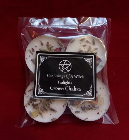 CROWN CHAKRA TEALIGHT SPELL CANDLES