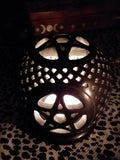 PENTACLE GLOBE CANDLE HOLDER