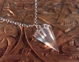 CLEAR QUARTZ PENDULUM NECKLACE